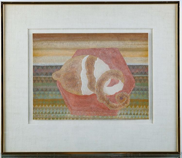 """Dagmar Martens """"Lemon"""" Gouache on Paper 1979"""