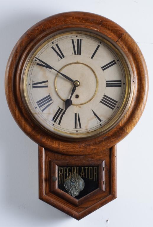 Waterbury Schoolhouse Regulator Clock