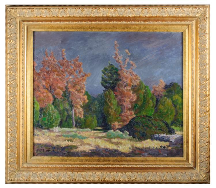 Henry Lee Landscape Oil on Canvas