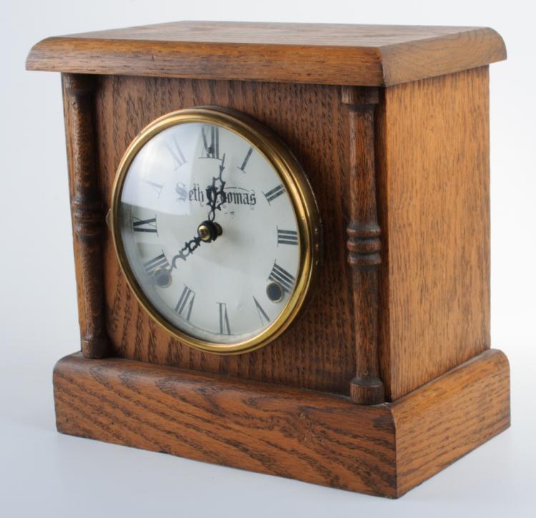 Seth Thomas Oak Table Clock