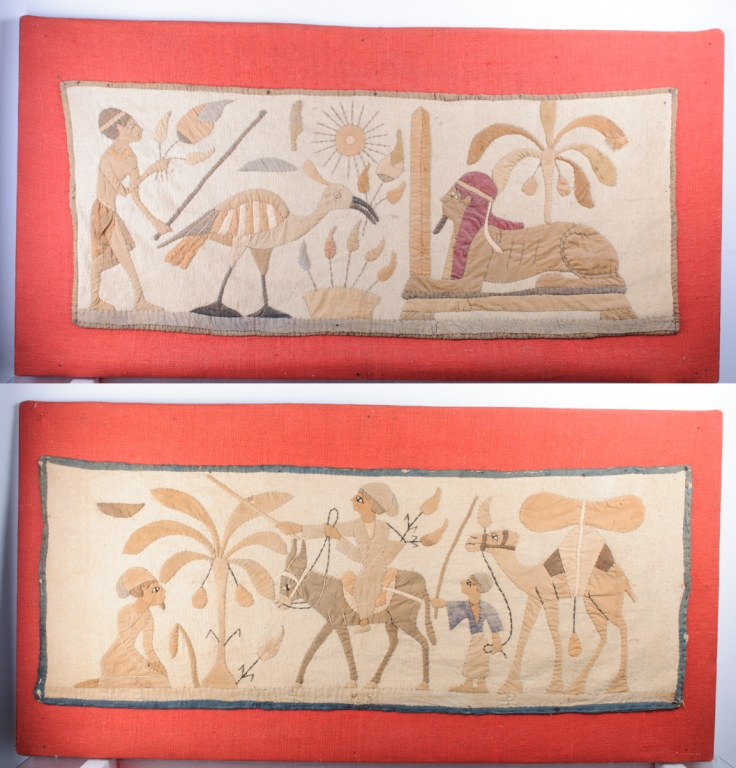 Egyptian Motif Tapestries 19th C