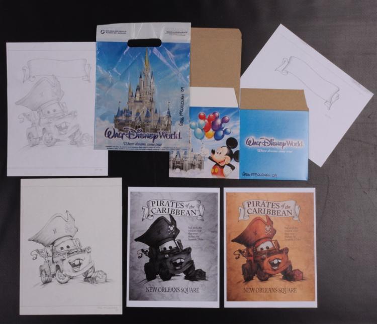 "Greg McCullough ""Cars"" Disney Animation Drawings"