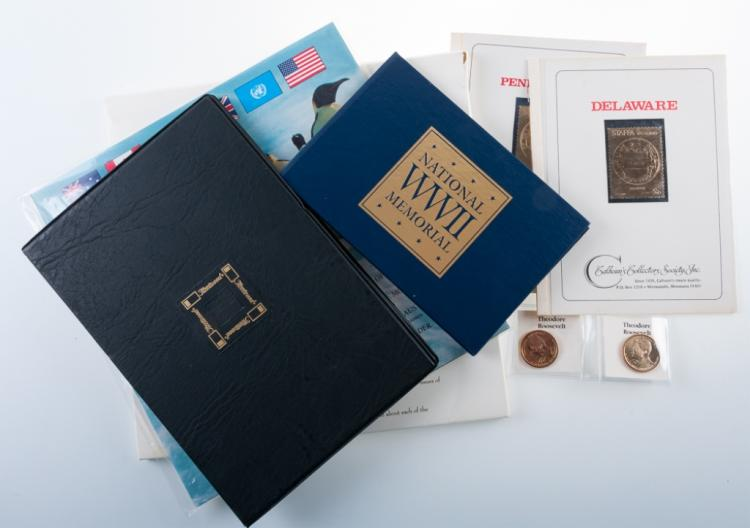 Commemorative Stamps, FDC's, & Golden Coins