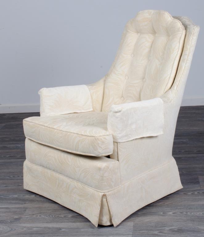 Upholstered Swivel Rocker 20th C