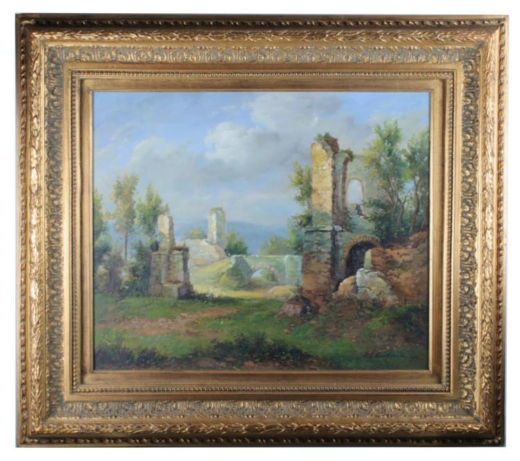 Willem Kerckhoven Landscape Oil on Canvas