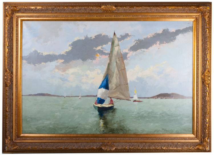 Krisitak B. Oil on Canvas Painting