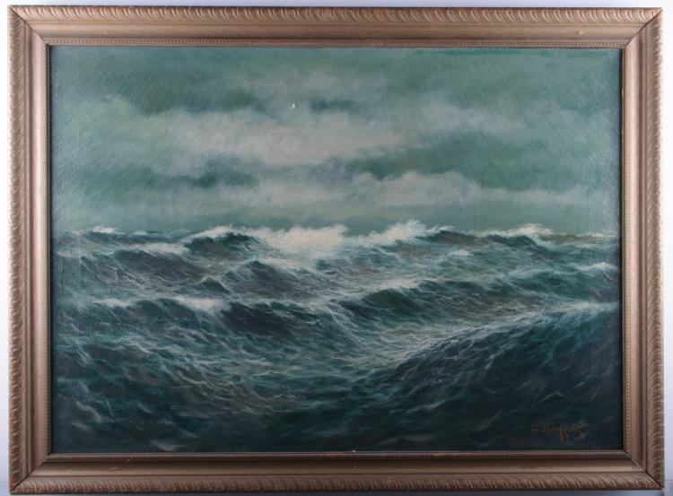J. Berkhout Oil on Linen Painting
