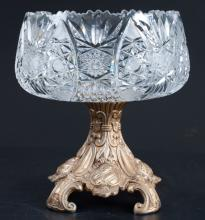 Cut Crystal Footed Serving Bowl