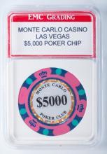 Monte Carlo Casino $5,000 Poker Chip