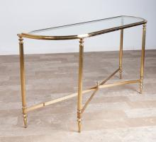DIA Brass and Glass Console Table