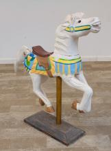 Folk Art Carousel Horse on Stand