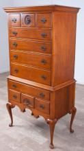 Charak Furniture Co. Tiger Maple Highboy