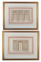 French Architectural Prints Pair, 18th Century