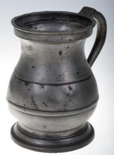 Victorian Pewter Baluster Measure