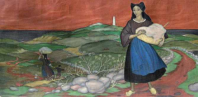 LANGLAIS Xavier de, 1906-1975 Femmes de l'île de