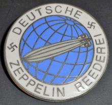 GERMAN NAZI DEUTSCHE ZEPPELIN REEDERIE AIR SHIP BADGE