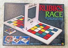VINTAGE 1982 RUBIKS RACE BOARD GAME IN ORIG. BOX