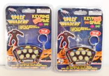 LOT OF 2 NEW SPACE INVADERS ELECTRONIC KEY RING GAMES