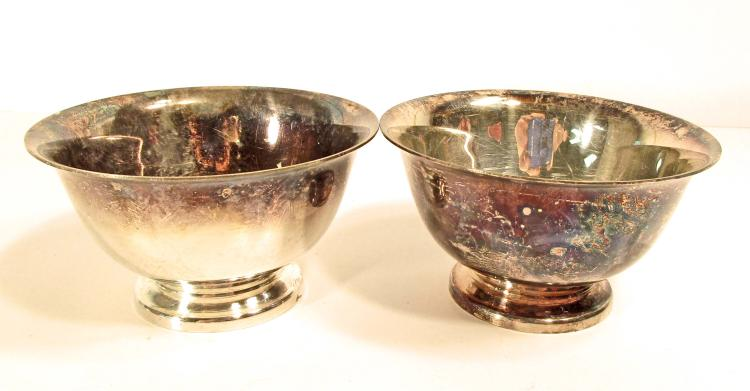 Lot Of 2 Vintage Reed Barton Paul Revere Design Dishes