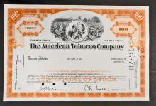 VINTAGE AMERICAN TOBACCO COMPANY STOCK CERTIFICATE
