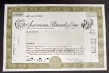 VINTAGE AMERICAN BRANDS STOCK CERTIFICATE