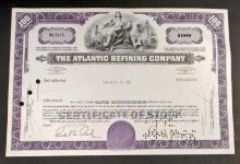 VINTAGE ATLANTIC REFINING STOCK CERTIFICATE - ATLANTIC RICHFIELD