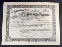 VINTAGE OKLAHOMA CITY BUILDING AND LOAN STOCK CERTIFICATE