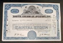 VINTAGE NORTH AMERICAN AVIATION STOCK CERTIFICATE