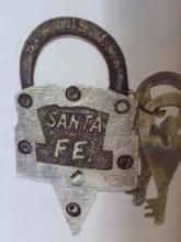 KEEN KUTTER SANTA FE SOLID BRASS PADLOCK W/ KEYS - 3.75