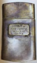 CSA CONFEDERATE STATES SOLID BRASS MAP CASE 2