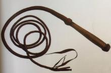 9 AND A HALF FOOT LONG LEATHER BULL WHIP