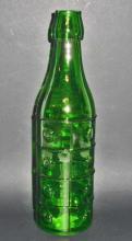 GREEN ART GLASS BOTTLE - 10