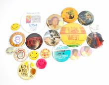 LOT OF 20 VINTAGE ASSORTED PINBACK BUTTONS