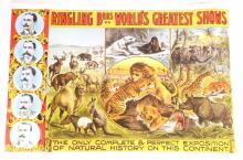 RINGLING BROS ANIMAL SHOWCASE CIRCUS POSTER PRINT
