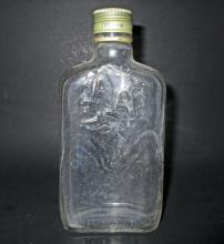 VINTAGE AA GLASS WHISKEY FLASK