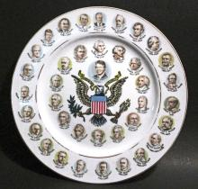 VINTAGE 200 YEARS OF US PRESIDENTS PLATE - TO JIMMY CARTER