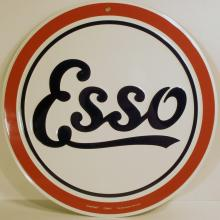 ESSO ROUND METAL ADVERTISING SIGN - 12