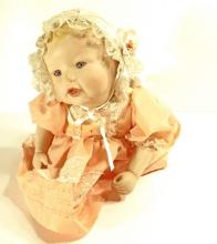 VINTAGE PORCELAIN BABY DOLL - LAYING POSITION