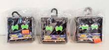 LOT OF 3 SETS OF NEW SPACE INVADERS CUFFLINKS SETS