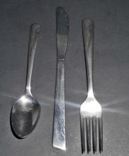 VINTAGE ONEIDA SPOON FORK KNIFE 3 PIECE SET