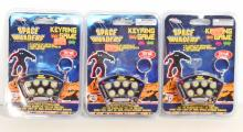 LOT OF 3 NEW SPACE INVADERS ELECTRONIC KEY RING GAMES