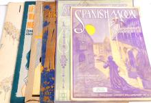 LOT OF 7 PIECES OF VINTAGE C. 1920S SHEET MUSIC