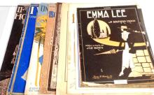 LOT OF 10 PIECES OF VINTAGE C. 1920S SHEET MUSIC