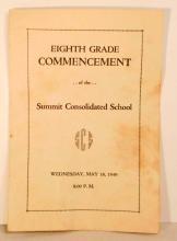 1949 8TH GRADE COMMENCEMENT SCHOOL PROGRAM
