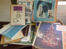 Ten various old car handbooks and brochures including Morris Minor & Mini, together with a quantity