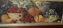 A. Dudley (b.1800-) watercolour still life with fruit, signed lower right, 12