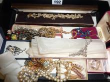 Collection of vintage costume jewellery, some silver