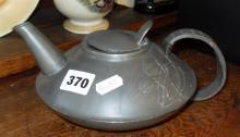 Liberty's Archibald Knox Arts & Crafts pewter teapot, style 0231