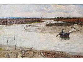 CHARLES W. WYLLIE (1853-1923) The Crossing Point