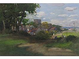 THOMAS AUSTEN BROWN (1857-1924) A rural Idyll